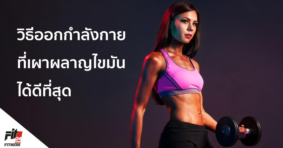 วิธีออกกำลังกายที่เผาผลาญไขมันได้ดีที่สุด